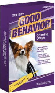 SENTRY Good Behavior Dog Toy Calming Drops 6ct