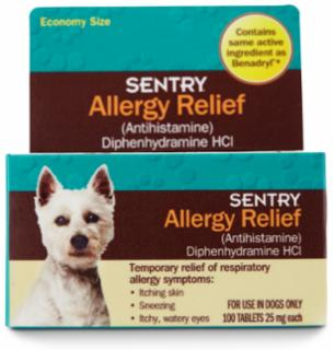 SENTRY Allergy Relief Tabs Dog 100ct