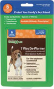 SENTRY Worm X Plus 7 Way De-Wormer Small Dog 6ct
