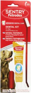 Sergeant's SENTRY Petrodex VS Natural Dental Care Kit Dog Peanut Toothpaste