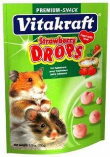 Vitakraft Hamster Strawberry Drop Pouch 5.3oz