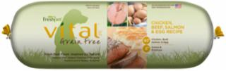 Freshpet Vital Grain Free Chicken Salmon, Beef & Eggs 2 lb. Roll