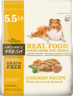 Freshpet Nature's Fresh Grain-Free Chicken Recipe For Dogs 5.5# C=4