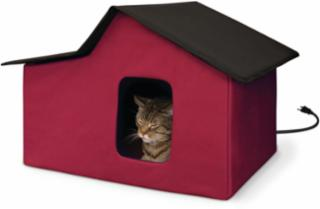 K&H Outdoor Multi Kitty Home Heated Barn Red