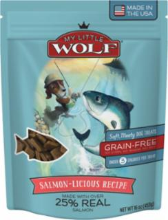 American Pet Nutrition My Little Wolf Salmon-Licious Recipe Dog Treats 8/16oz *REPL 552012