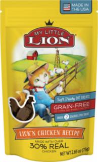 American Pet Nutrition My Little Lion Lickin Chicken Recipe Cat Treats 14/2.65oz *REPL 552023