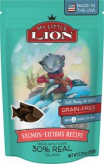 American Pet Nutrition My Little Lion Salmon-Licious Recipe Cat Treats 14/5.3oz *REPL 552031