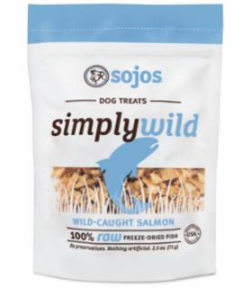 Sojo Simply Wild Salmon Dog Treats 2.5z