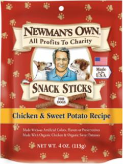 Newman's Own Chicken & Sweet Potato Snack Sticks 4oz