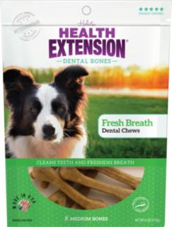 Health Extension Medium Fresh Breath Dental Chews 8pk *REPL 587108