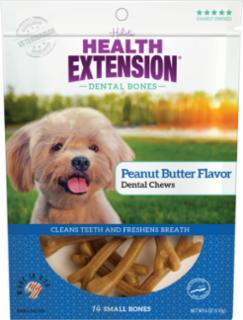 Health Extension Small Peanut Butter Dental Chews 14pk *REPL 587077
