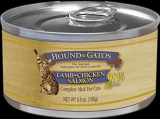Hound & Gatos Cat Lamb/Salmon/Chicken 24/5.5Z