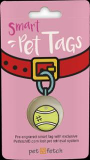 PetFetch Smart Tag Emoji Tennis Ball
