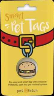 PetFetch Smart Tag Emoji Hamburger