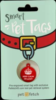 PetFetch Smart Tag Fun Keep Calm I'm Lost