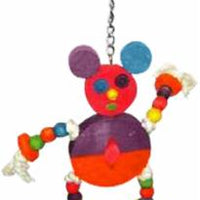 A&E Cage The Crazy Wooden Mouse Bird Toy