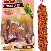 A&E Vitapol Smakers Parakeet Treat Sticks - 12 ct Display Box Strawberry