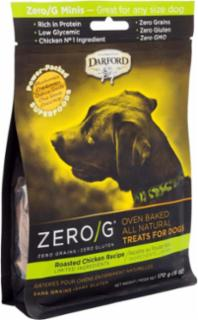 Darford ZERO/G Minis Oven Baked All Natural Treats for Dogs Roasted Chicken Recipe 6/6Z