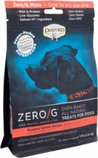 Darford ZERO/G Minis Oven Baked All Natural Treats for Dogs Roasted Salmon Recipe 6/6Z