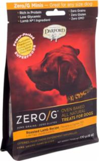 Darford ZERO/G Minis Oven Baked All Natural Treats for Dogs Roasted Lamb Recipe 6/6Z