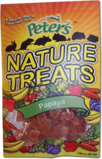 Marshall Pet Peters Natural Treats - Papaya Pieces 1 oz.