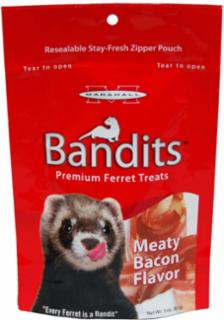 Marshall Pet Bandits Ferret Treats 3 oz. Meaty Bacon