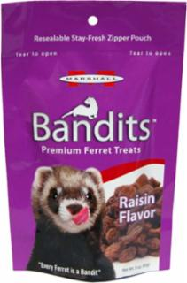 Marshall Pet Bandits Ferret Treats 3 oz. Raisin Flavor