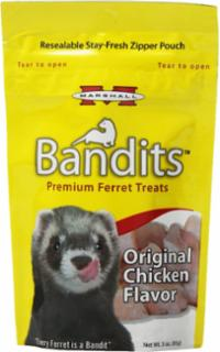 Marshall Pet Bandits Ferret Treats 3 oz. Chicken Flavor