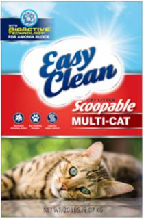 Pestell Easy Clean Multi-Cat Scoopable Cat Litter 20#