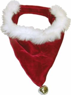 Outward Hound Bandanna Santa Red/White Medium