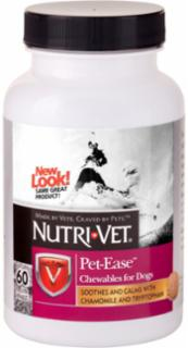 Nutri-Vet Pet-Ease Liver Chews 60ct Dog