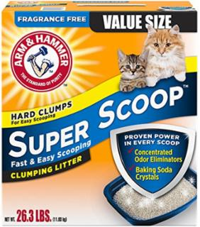 Arm & Hammer Super Scoop Clumping Litter Unscented 26.3 lb