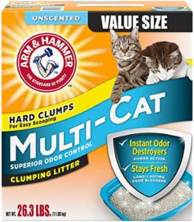 Arm & Hammer Multi Cat Clumping Unscented Litter 26.3 lb.
