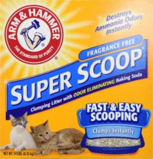 Arm & Hammer Superscoop Clumping Unscented Litter  3/14 lb.