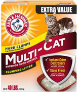 Arm & Hammer Multicat Strength Clumping Litter 40 lb.