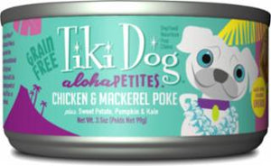 Tiki Dog Aloha Petites Poke Chicken/Mackerel 24/3.5z