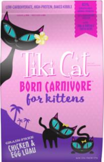 Tiki Cat Born Carnivore for Kittens Chicken & Egg Luau 2.8#