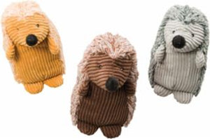 Ethical Plush Corduroy Hedgehogs Assorted Dog Toy 8""