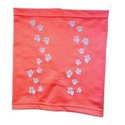 Fashion Pet - PAW PRINT SNOODY RED LG
