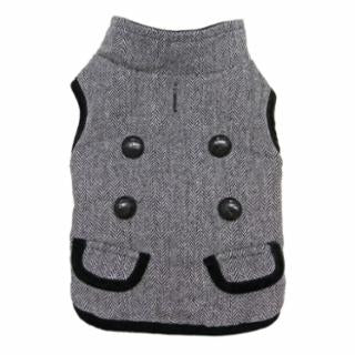 FASHION PET - TWEED COAT GRAY LG