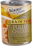 Evanger's Against The Grain Hand Pulled Chicken - Dog Food - 12/12 oz.