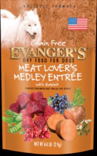 Evangers Meat Lover's Medley Grain Free Rabbit Dog Food 33#