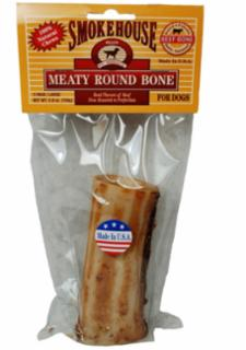 "Smokehouse 5"" Mighty Large Round Bone Shrink Wrapped With UPC"