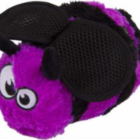 goDog Bugs Bee with Chew Guard Technology Plush Squeaker Dog Toy Large Purple
