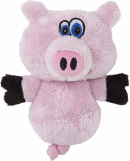 goDog HEAR DOGGY! Mini Flattie Pig with Chew Guard and Silent Squeak Technology