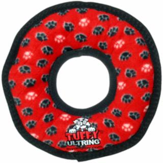 VIP Products Tuffy's Ultimate Ring Red Paws