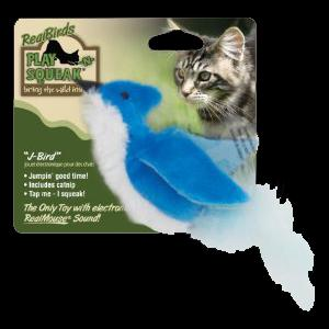 Our Pets Play N' Squeak Real Birds J-Bird Toy
