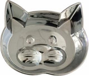 Our Pets Metal Kitty Face Dish