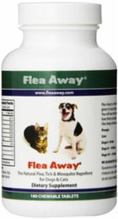 Flea Away: The Natural Flea, Tick And Mosquito Repellent Chewable Tablets 100 Ct.
