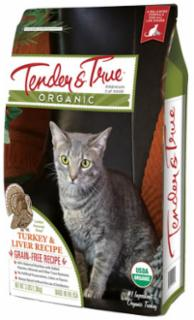 Tender and True Organic Turkey & Liver Dry Cat Recipe 7# C=5